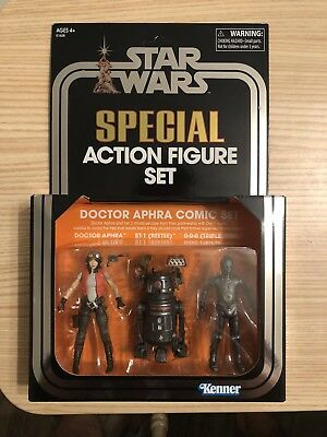 SDCC 2018 Star Wars Doctor Aphra Action Figure Set Hasbro New In Hand!