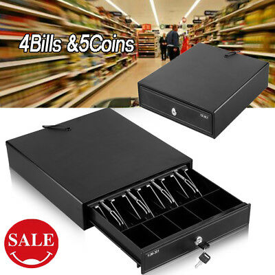 4Bills 5Coins Tray Heavy Duty Electronic Cash Drawer Cash Register POS Till Box