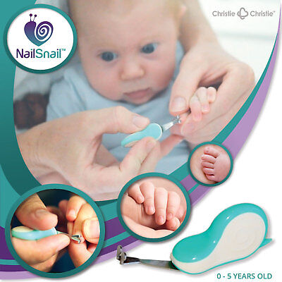 Nail Snail Baby Child 0-5y Nail Trimmer Scissors Clippers File EASIER SAFER NEW