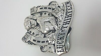 RARE 1 of 500 Limited Edition LUCKY THIRTEEN 13 Apparel Belt Buckle - USA MADE