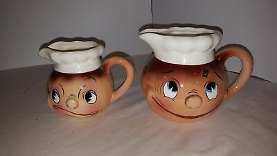 Vintage Anthropomorphic PY CREAMER AND MILK JUG CONTAINER OH MY A FLY