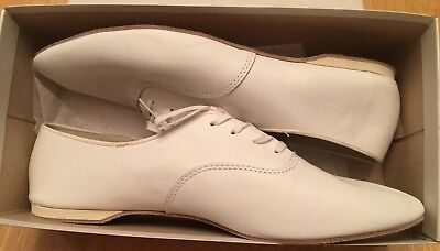 men's size 13 white leather dance shoes