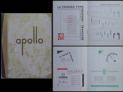 "Catalogue ""apollo"" - 1930 - Fonderie Typographique Francaise, Typographie"