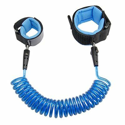 Anti Lost Wrist Link 2.5M Safety Wrist Link for Toddlers Children & Kids Blue.
