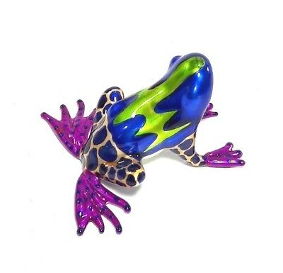 Frog Blown Glass Miniature Hand Animal Figurine Dollhouse Decor Collectible Art