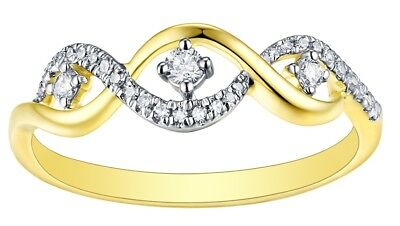 Prism Jewel 0.07CT G-H//SI1 Natural Diamond Light Weight Bypass Ring