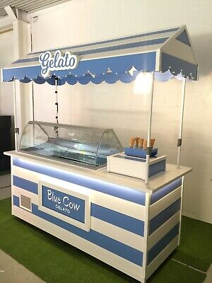 Gelato/Ice Cream Mobile Cart Freezer Display