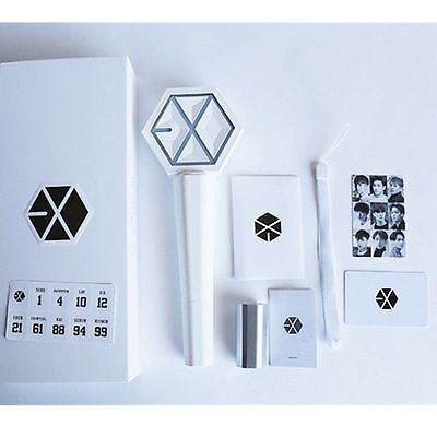 DE Kpop EXO EX'ACT EXACT MONSTER LIGHT STICK Ver. 2.0 LAMP PHOTO CARD LEUCHTSTAB