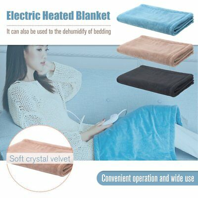Washable Electric Heated Throw Rug Snuggle Blanket 3 Smart Heat Settings F7