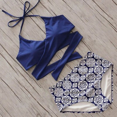 Women Summer Swimwear Bikini Set Push-up Padded Bra Bathing Suit Swimsuit Lot US