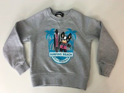 Dsquared2 Ds2 Boys Jumper, Size Age 4 Years, Sweatshirt, Grey Dogs, Immaculate