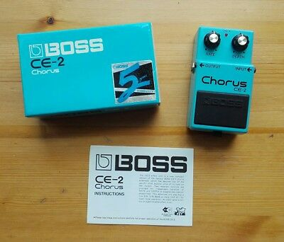 Boss CE2 1988 Chorus guitar effects pedal Vintage CE-2