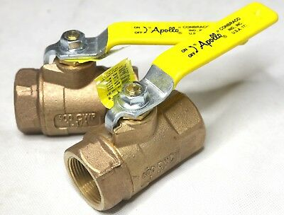 QTY 2- Conbraco 70-106-01 Apollo 600cwp 1-1/4 In Npt Bronze Ball Valve