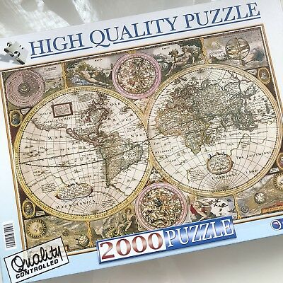 NEU Puzzles & Geduldspiele ALTER ATLAS Old Map  Puzzle High Quality Kollektion 2000 Teile