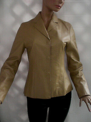 Sandra Angalozzi Awesome Soft Leather Snaps Closure Lined Jacket Sz-34,s-Xs