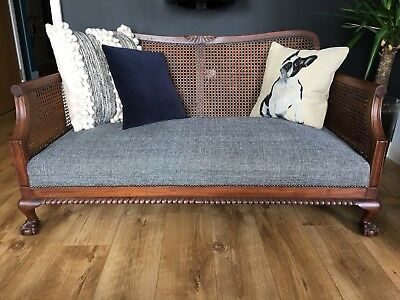 Two Seater Bergere Sofa Early 20th Century