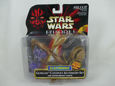 Star Wars Episode 1 Electronic Gungan Catapult Accessory Set Moc