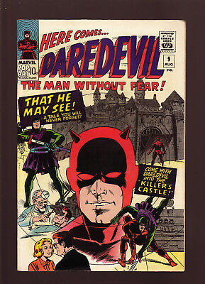 """Daredevil #9 Aug 1965 Fine+ """"that He May See"""" The Killer's Castle"""