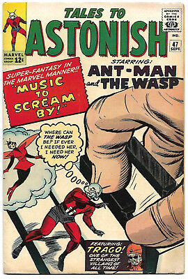 TALES TO ASTONISH #47 Fine+ 6.5 4th Wasp! Jack Kirby Cover, Ditko Interiors NICE