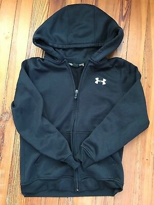 Boys Under Armour Coldgear Loose Zip Up Hoodie Jacket Youth Small YSM