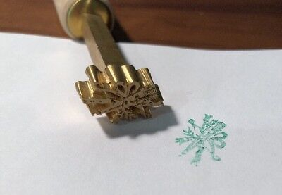 Brass Bookbinding Gilding Finishing Hand Tool, New - Bow & Arrow
