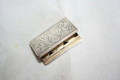 Dutch silver vinaigrette in the form of a book C1880