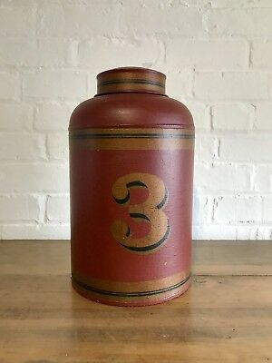 Toleware Tea Caddy Grocers Shop Display Advertising Vintage Retail Prop
