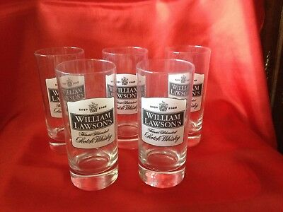 WILLIAM LAWSON'S 5 Verres  Whisky Hauteur 13 Cm