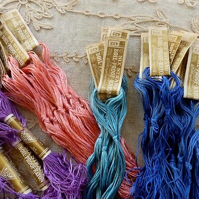 Over One Hundred Skeins Antique Embroidery Threads