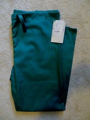 NWT~Fundamentals by White Swan~Unisex Drawstring Scrub Pants~Small~Hunter Green