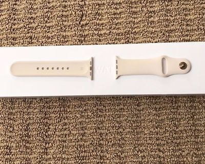 Genuine Apple Watch Sport Band 38mm Antique White New Gold Stainless Steel Pin