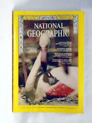 National Geographic magazine February 1970  Flamingos Danakil Ethiopia Lebanon