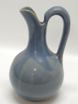 "Always Azul Pottery, Colorado Wide-Bottomed 12"" Blue Pitcher - Euc"