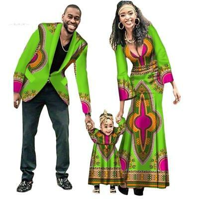 New Fashion Matching Clothes Brand Father Mother and Son Baby Africa Clot