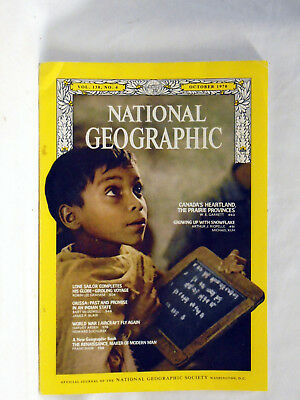 National Geographic magazine October 1970  Canada Lone sailor Orissa Aircraft