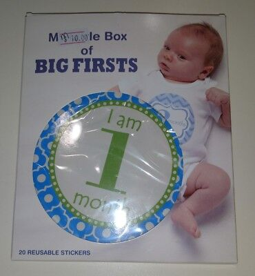 Gantz My Little Box of Big Firsts Milestone Stickers, Baby Boy or Girl, Pictures