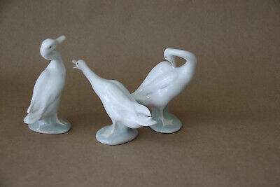 LLADRO SWANS - SET OF 3 - Vintage 1970s