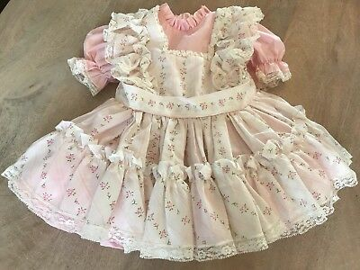 Sweet 'N Sassy Vintage 2t Toddler Pink Dress With Overlay