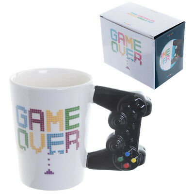 GAME OVER Game Console Controller Handle Mug Tea Coffee Cup Game Lovers Gift NEW
