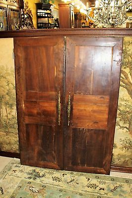 Antique French Louis XV Solid Walnut Wood Door Circa 1820 Living Room Furniture