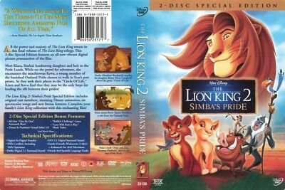 Walt Disney's The Lion King 2 Simba's Pride Special Edition 2-Disc DVD Set Movie
