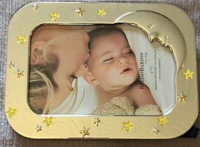 "Reed & Barton Lenox SWEET DREAMS Lullaby Baby Silverplate 4X6"" Frame Sandman NEW"