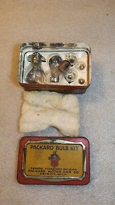 Antique Packard Bulb Kit Complete In Tin (U)