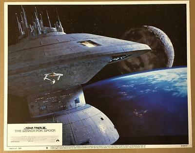 image of Enterprise by space station Star Trek Search for Spock lobby card 1166