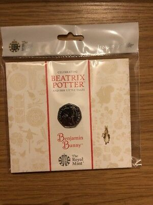 2017 Royal Mint Beatrix Potter Benjamin Bunny 50P Fifty Pence Coin Pack