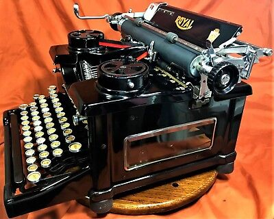 "Vtg Royal Typewriter No10~""3rd Variation"" 1934 Refurbished Instrument Machine"