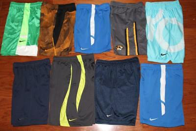 Lot Of 9 Nike Dri-Fit Youth Boys Basketball Shorts Athletic Running Kd Xs Small