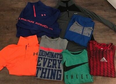 Lot Boys Size Medium, Nike, Adidas, And Under Armour