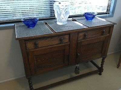Antique sideboard twisted legs 1.2 x .5 x .92 restored
