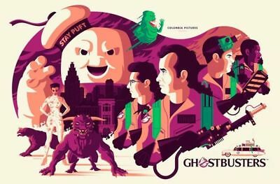 Sdcc 2018 Mondo Exclusive Tom Whalen Ghostbusters Glow In Dark Variant Poster!!!